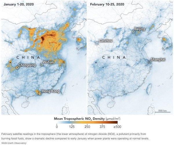 China Air Pollution & Quality Image (NASA) -Coronavirus COVID-19