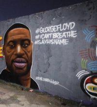 George Floyd - Berlin Wall Mural - #BlackLivesMatter