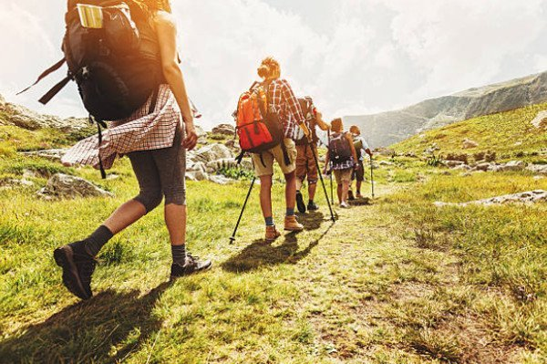 Hiking Outdoors in Nature - Healthy Lifestyle